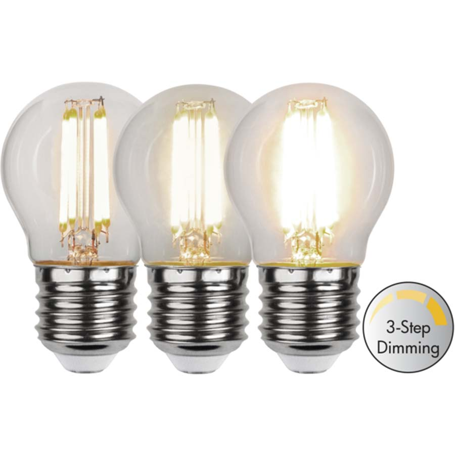 LED-lampa E27 G45 Clear klickdimring